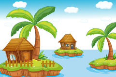 öar stock illustrationer