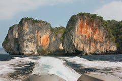 Öar av golfen av Thailand Arkivbild