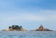 Öar i Adriatiskt havet, Montenegro arkivfoto