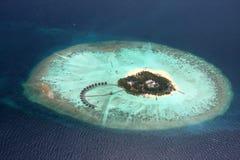 Öar i havet flyg- sikt Landskap Arkivbild