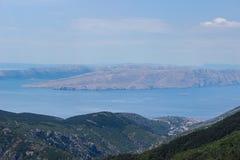 Öar i Kroatien Arkivfoto