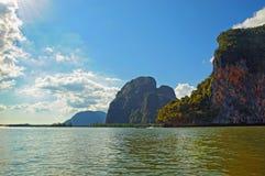 Öar i Thailand Arkivbilder