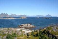 öar lofoten Royaltyfria Bilder