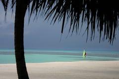 öar maldives Arkivfoton