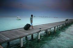 öar maldives Arkivbilder