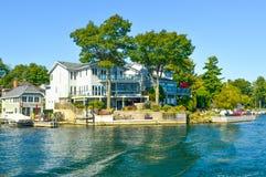 1000 öar och Kingston i Ontario Arkivbild