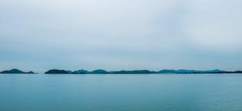 Öar på horisonten Arkivfoto