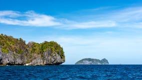 Öar runt om El Nido, Filippinerna Arkivbild