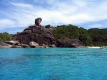öar s similan thailand Royaltyfria Bilder
