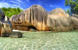 öar seychelles Arkivfoton