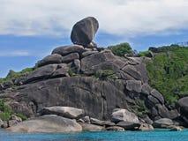 öar similan thailand Arkivbilder