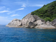 öar similan thailand Arkivbild