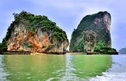 Öarna av Khao Phing Kan Arkivfoto