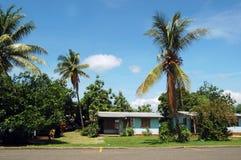 Öde ö av Lautoka, i västra av ön av Viti Levu, Fiji Royaltyfria Foton