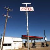 öde bensinstation Fotografering för Bildbyråer