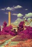 öde fabrik Arkivbild