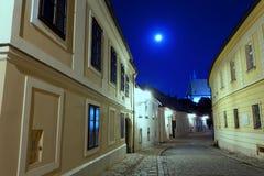 Öde gata av Bratislava Royaltyfria Bilder