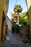 Öde gata i mitt av Baska croatia Royaltyfri Bild