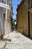 Öde gata i mitt av Baska croatia Arkivbild