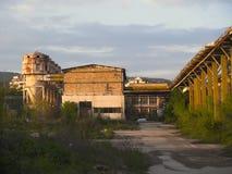 öde industriell växt royaltyfria bilder