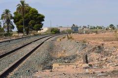 Öde järnvägsspår Royaltyfri Fotografi