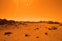 Öde jordisk planet Royaltyfri Fotografi