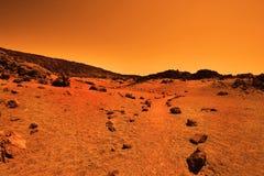 Öde jordisk planet Arkivfoton