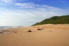öde pristine för strand arkivfoto