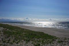 Öde seascape på det baltiska havet Royaltyfri Foto