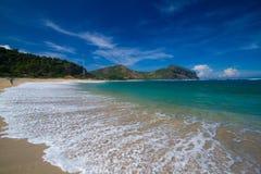 Öde strand Royaltyfri Foto