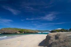 Öde strand Royaltyfria Bilder
