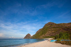 Öde strand Arkivfoton