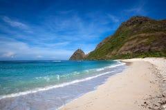 Öde strand Arkivfoto