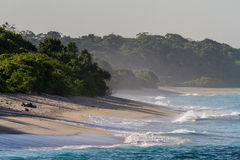 Öde strand Arkivbild