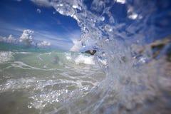 Öde strand Fotografering för Bildbyråer