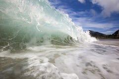 Öde strand royaltyfri fotografi