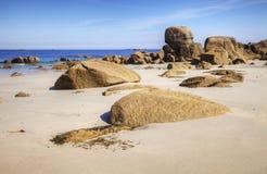 Öde strand Brittany France Arkivbild