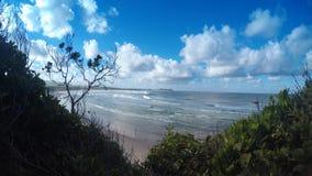 Öde strandBYRON-FJÄRD Australien Fotografering för Bildbyråer