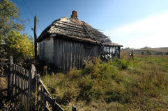 öde thatched hustak Fotografering för Bildbyråer