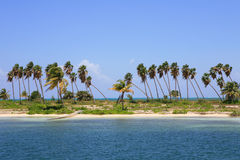 Öde tropisk ö Royaltyfri Foto