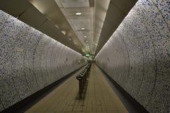 Öde tunnelbana Fotografering för Bildbyråer