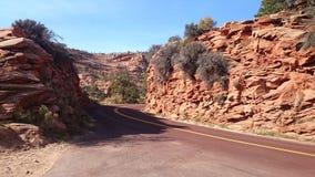 Öde väg i Utah royaltyfria foton