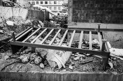Ödelagd byggnad med Residuals - Turkiet royaltyfri bild