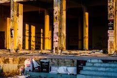 Ödelagd byggnadskonstruktion - Turkiet arkivbilder