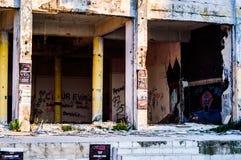 Ödelagd byggnadskonstruktion - Turkiet arkivfoton