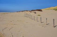 Ödelagd strand royaltyfri fotografi