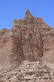 Ödland-Berggipfel, der in den Himmel ansteigt Stockfotografie