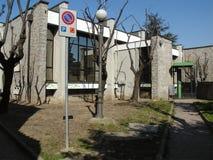 Öffentliche Bibliothek in Settimo Torinese stockfotos