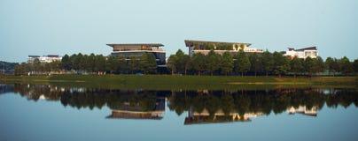 Öffentliche Gebäude in Hoang Mai-Bezirk, Hanoi, Vienam Lizenzfreies Stockfoto