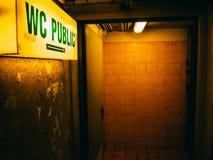 Öffentliche Toilette in Frankreich Europa Lizenzfreie Stockfotografie